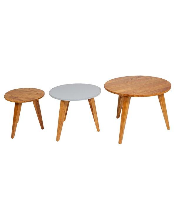 Set 3 side tables Aarhus