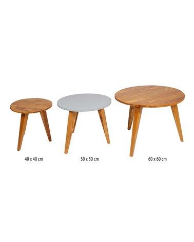 Set 3 mesas auxiliares Aarhus