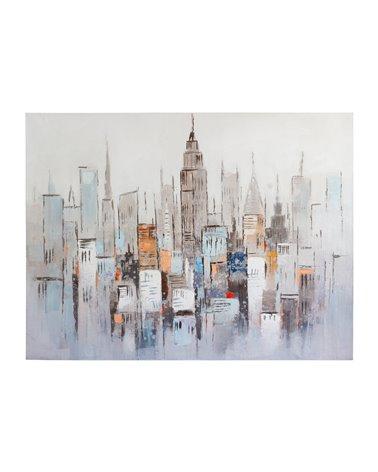 Buildings oil painting