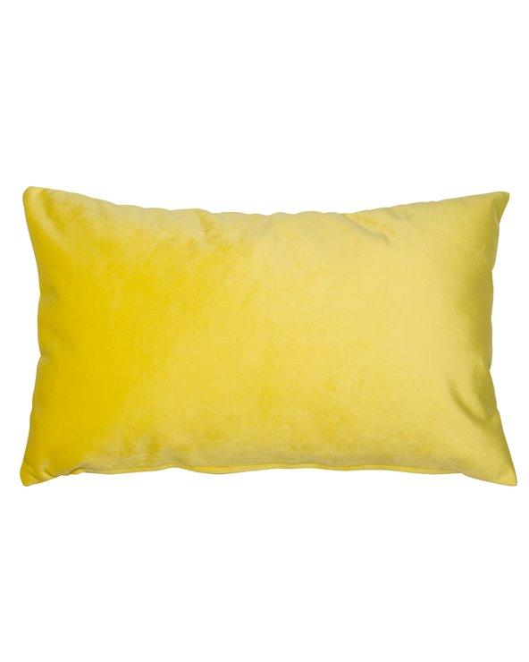 Coxín Velvet amarelo 30x50 cm