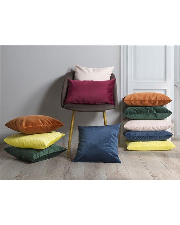 Yellow Velvet cushion 30x50 cm