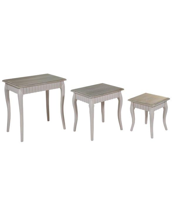 3er-Set Cora-Tische