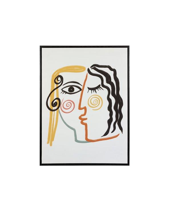 Picasso gezichten schilderij