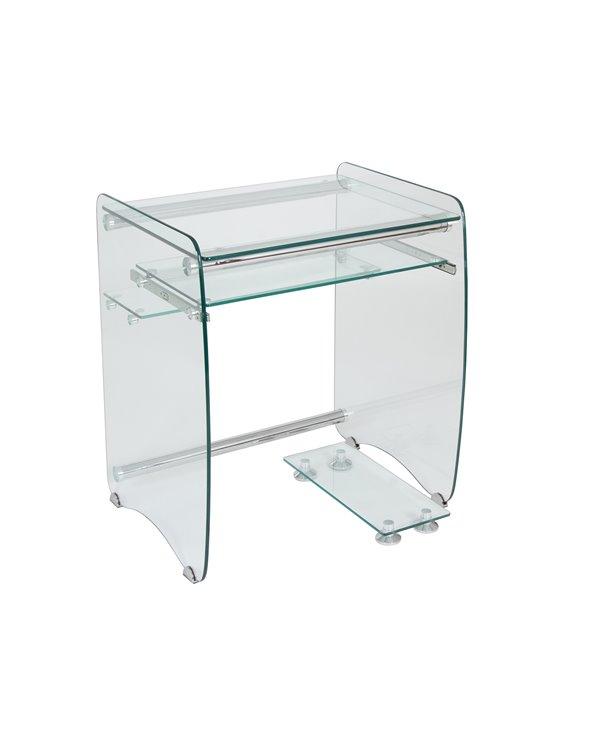 Szklane biurko komputerowe