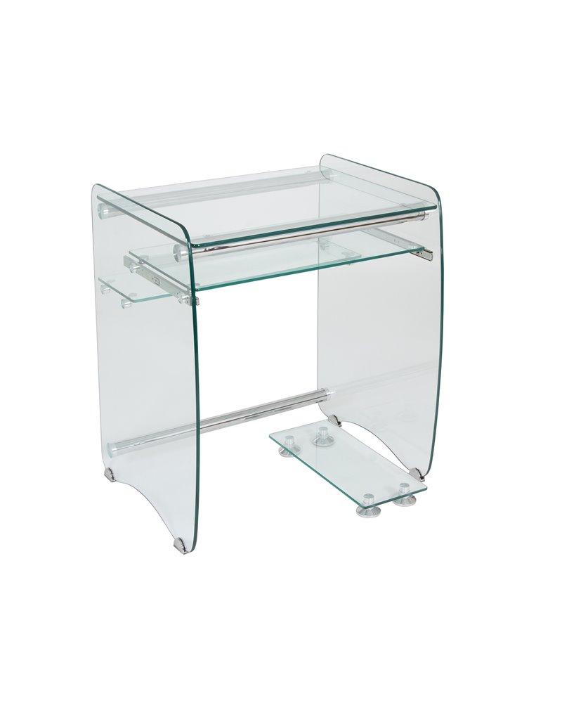 Mesa de ordenador cristal