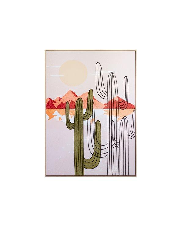 Peinture cactus