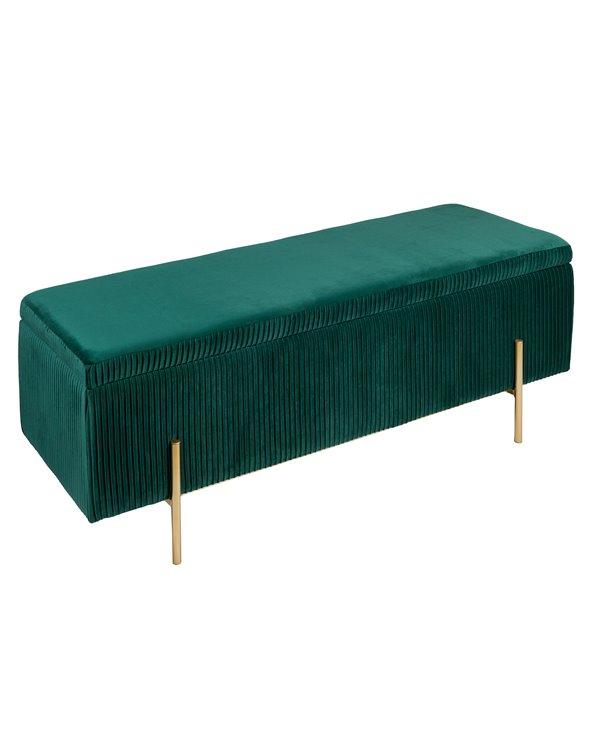 Banqueta - Baúl Deco verde