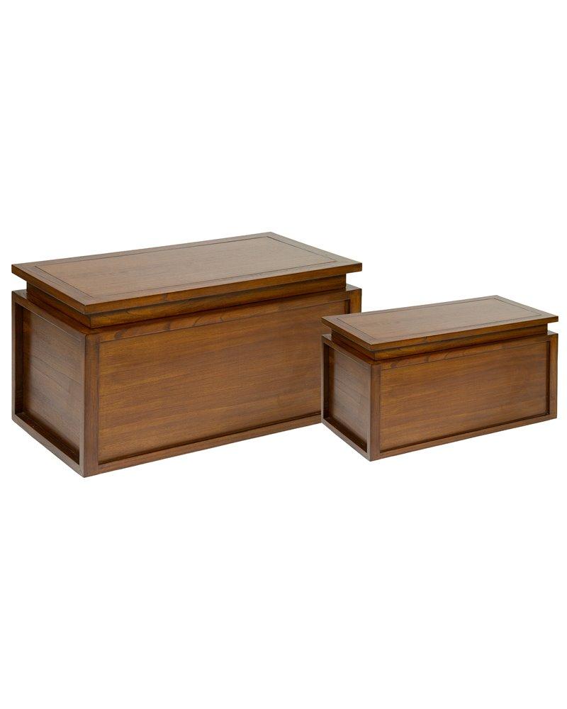 Juego de 2 baúles en madera