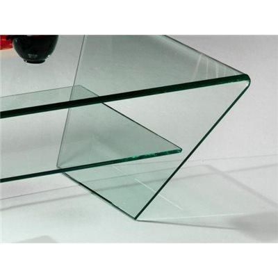 Taula de centre cristall corbat Kylie 115 cm