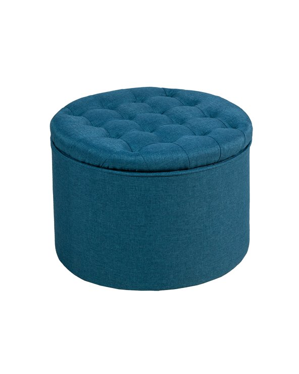 Round storage pouf