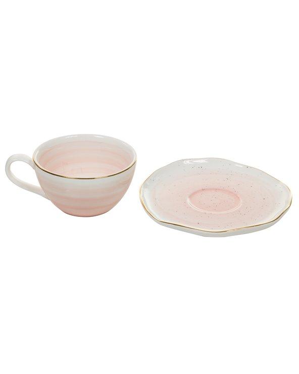 Taza y plato Colección Artesanal