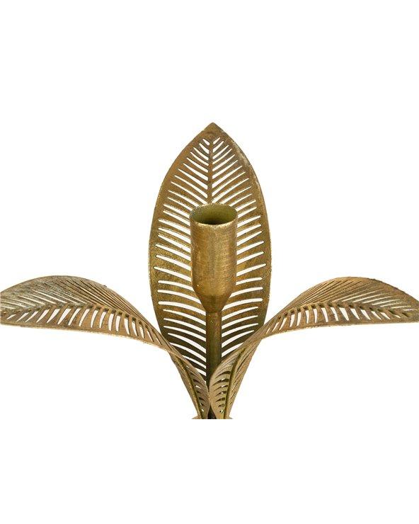 Candelabro flor metal