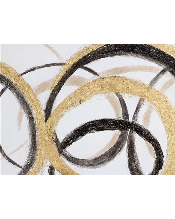 Cuadro abstracto panorámico