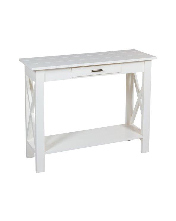 Konsolentisch mit weißer Klinge