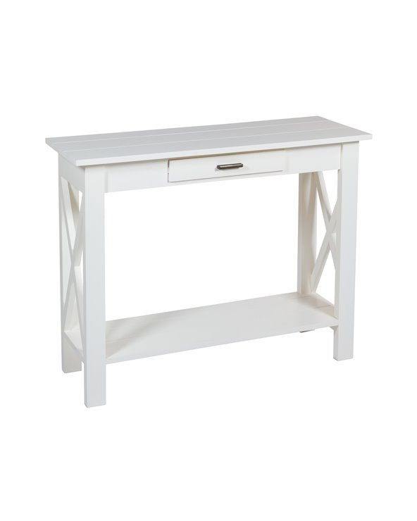 White blade console table
