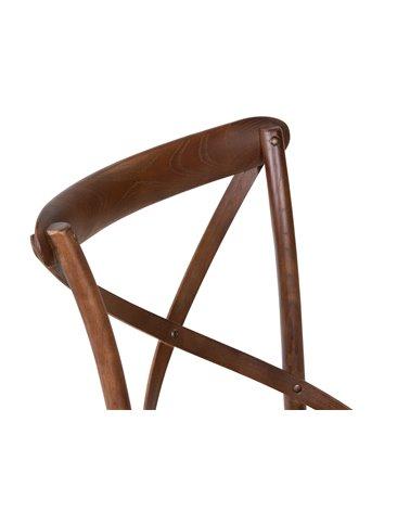 Cadira fusta recolze en creu