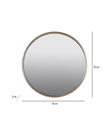 Espejo círculo oro