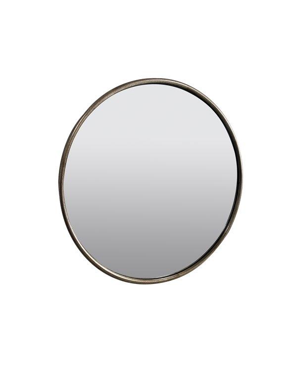 Silver circle mirror