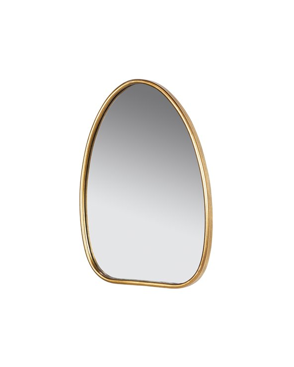 Gouden ovale spiegel