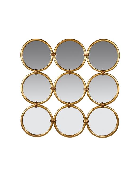 Espill cercles daurats