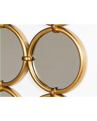 Espejo círculos dorados