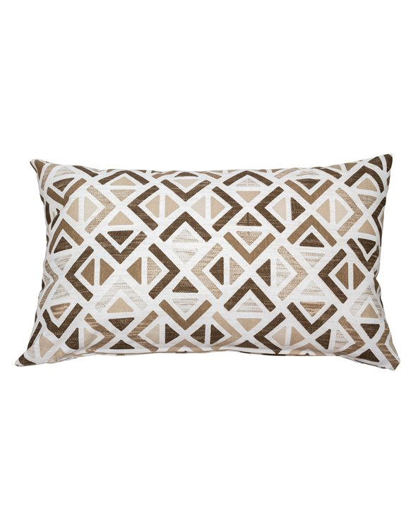 Sonia beige geometric cushion 30x50 cm