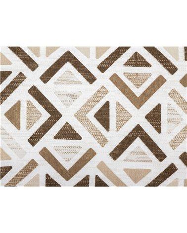 Cojín Sonia geométrico beige 30x50 cm