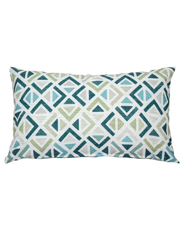 Sonia geometrische turquoise kussen 30x50 cm