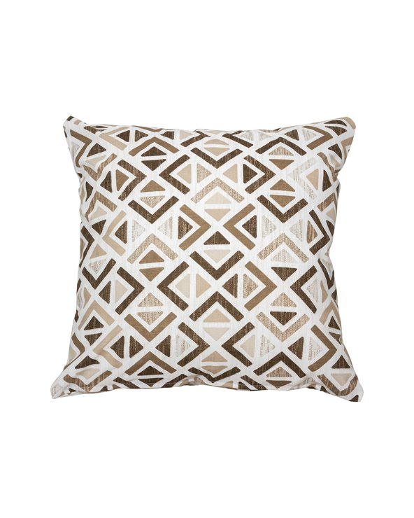 Sonia beige geometric cushion 45x45 cm