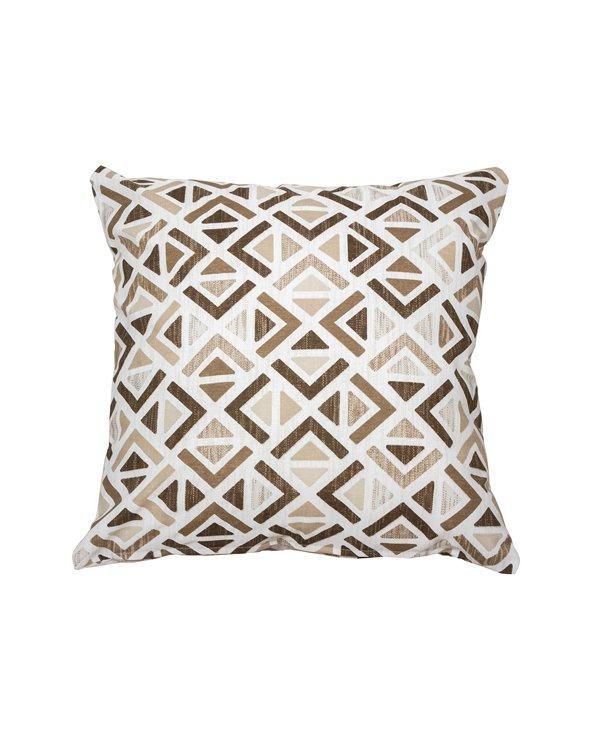 Sonia Beige geometrisches Kissen 45x45 cm