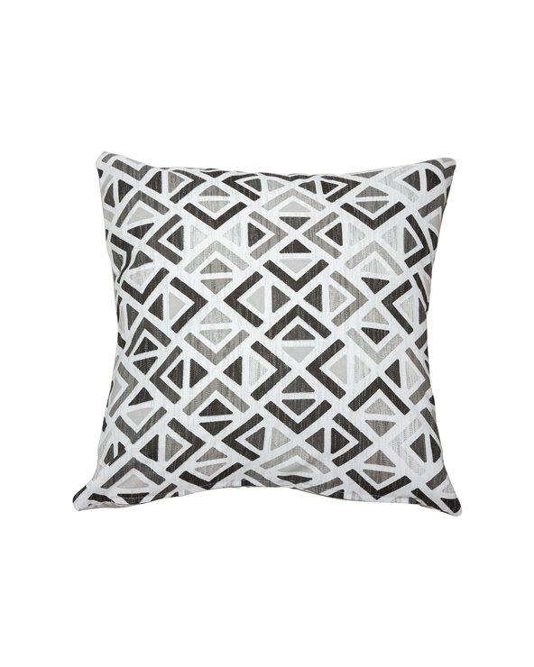 Poduszka Sonia szara geometryczna 45x45 cm
