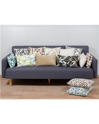 Sonia gray geometric cushion 45x45 cm