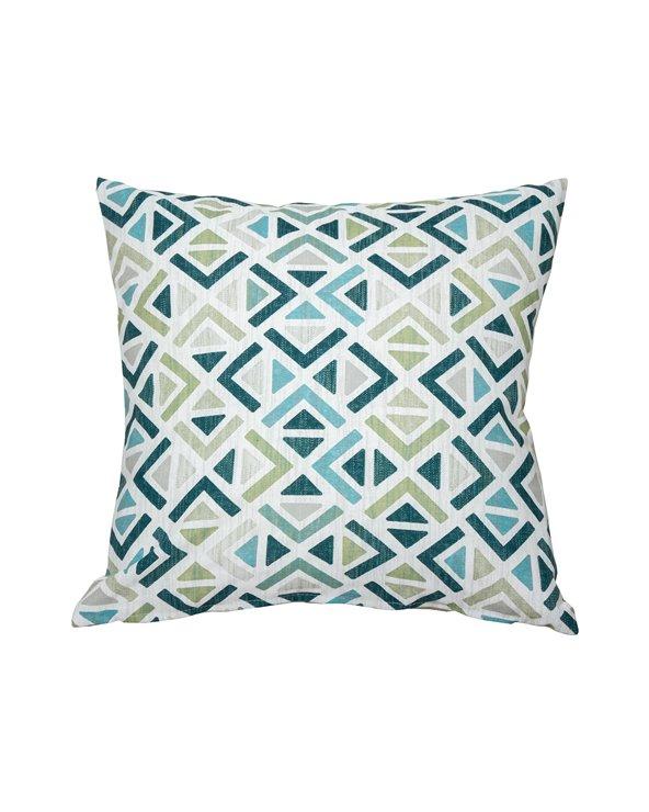 Sonia geometrische turquoise kussen 45x45 cm
