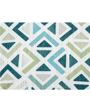 Sonia geometric turquoise cushion 45x45 cm