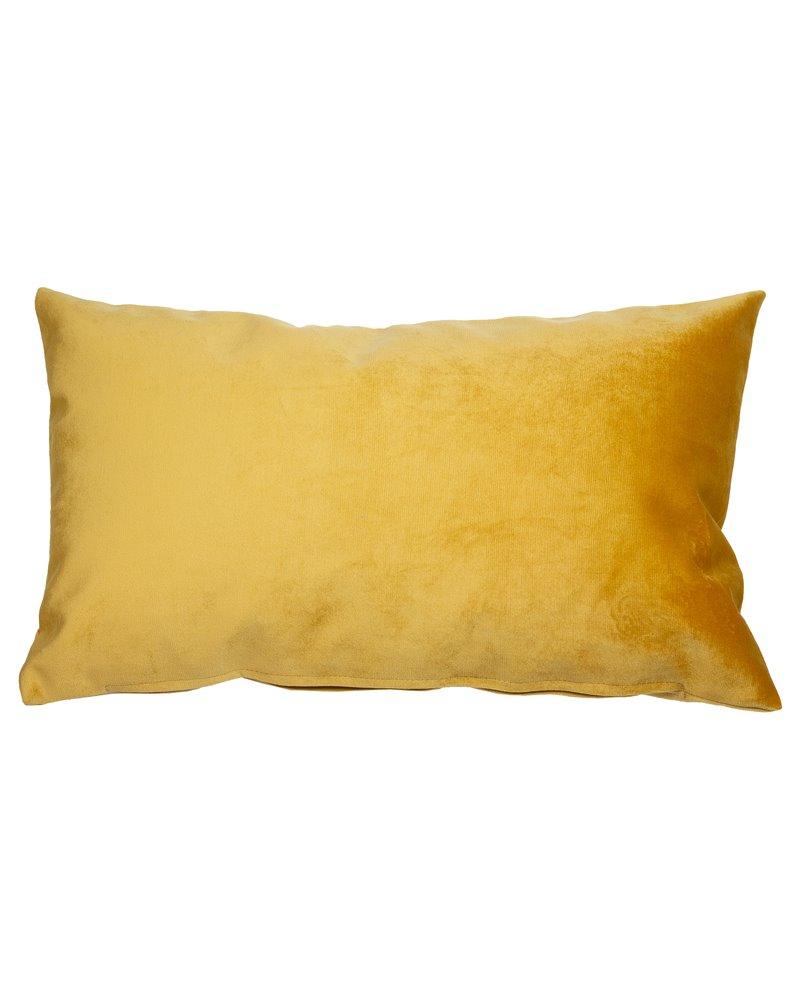 Mustard velvet cushion 30x50 cm
