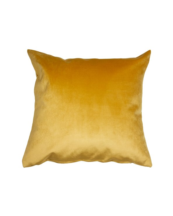 Mustard velvet cushion 45x45 cm