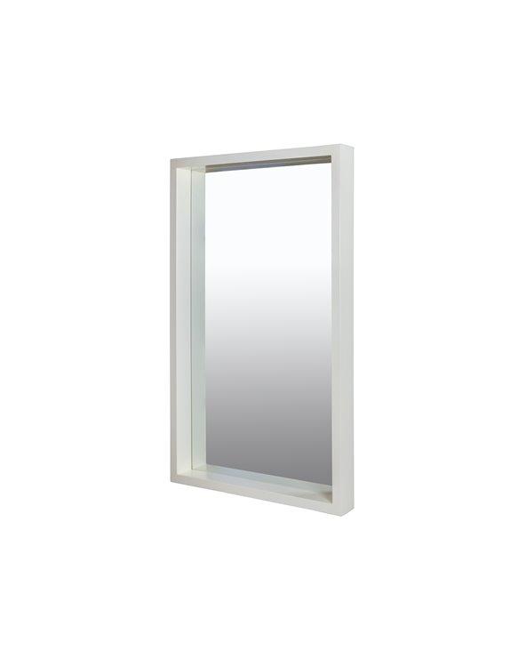 Koloniale witte spiegel 60x100 cm