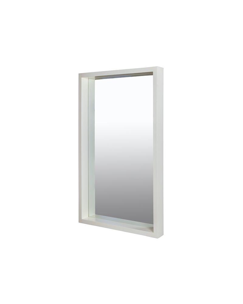 Espejo blanco colonial 60x100 cm