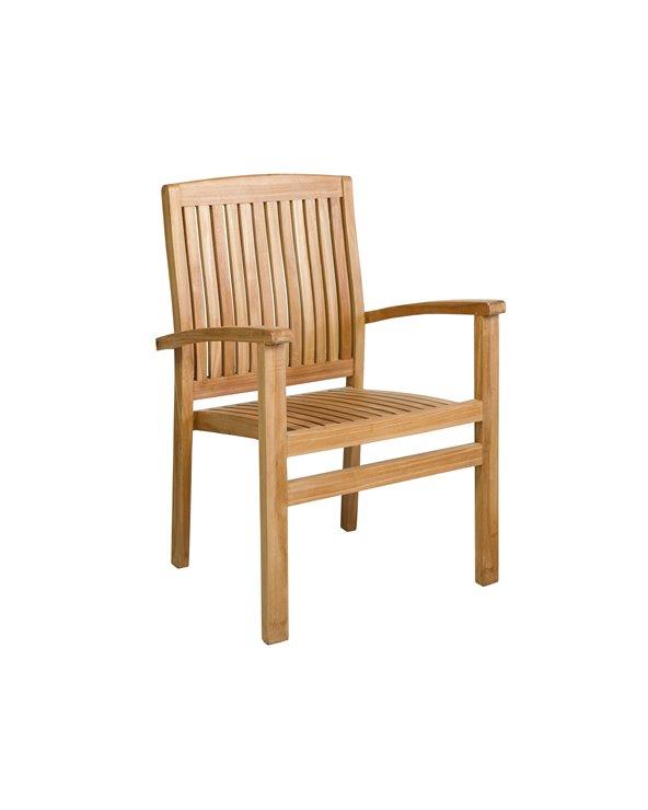 Bali teak armchair