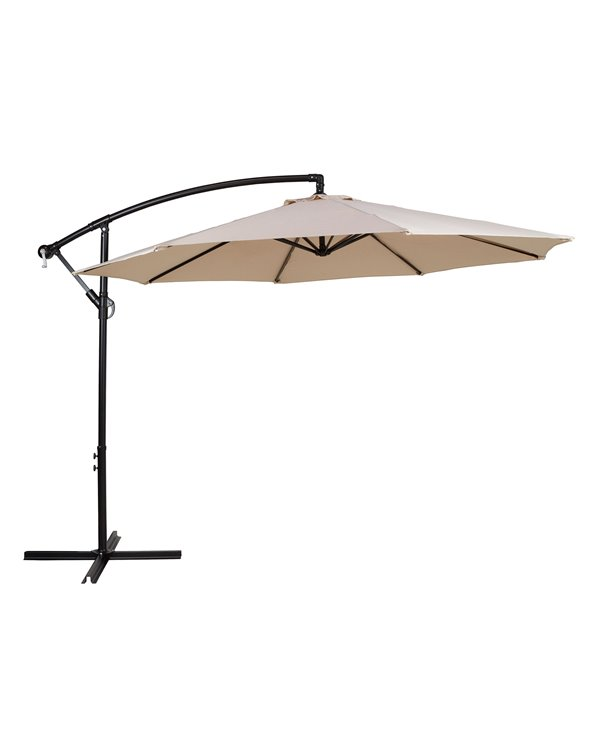 Side beige umbrella