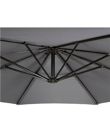 Gray side umbrella