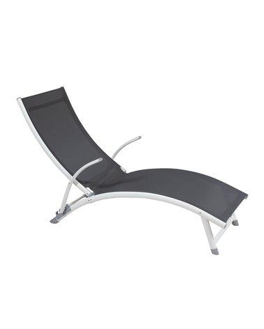Gray aluminum sun lounger