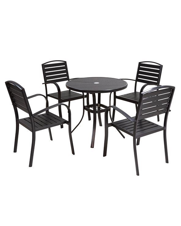 Garden table with 4 Loft chairs