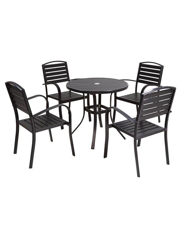 Tuintafel met 4 Loft stoelen