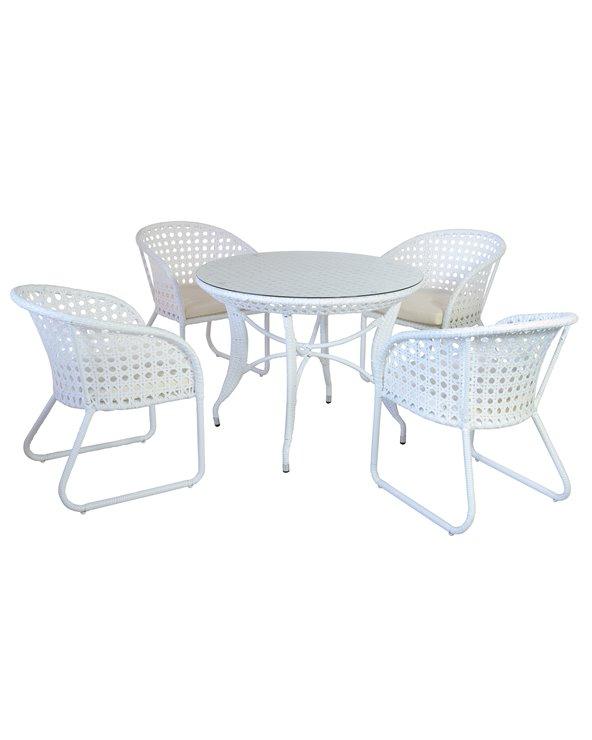 Mesa de jardín Nasau de 5 piezas