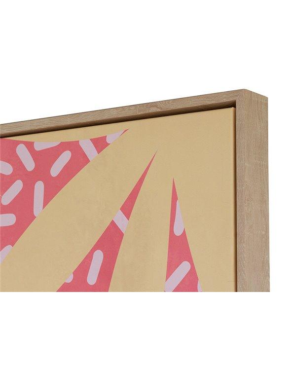 Pink leaf painting