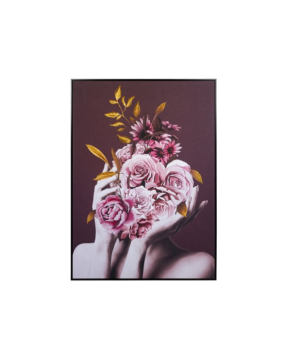 Roses bouquet painting