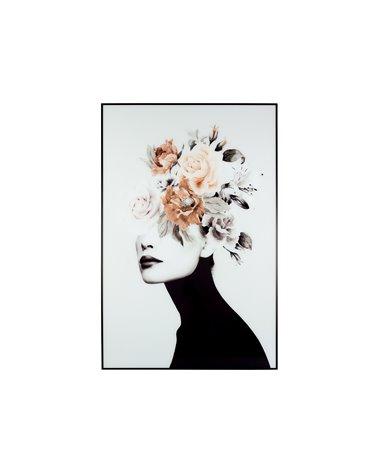 Cuadro flores pelo blanco