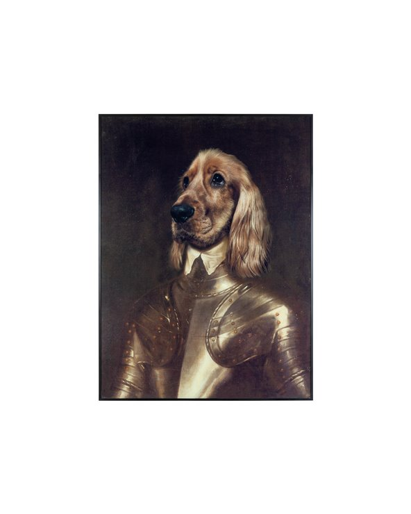 Pittura del cane del cavaliere