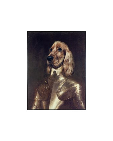 Cuadro perro caballero